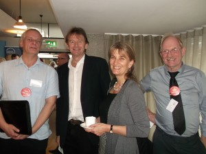 Alex, Michael Wood, Carenza Lewis and Andy